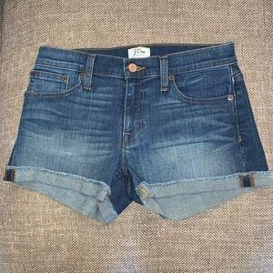 EUC J Crew Jean Shorts Size 25.
